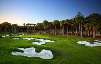 Carya Golf Course bunkers everywhere